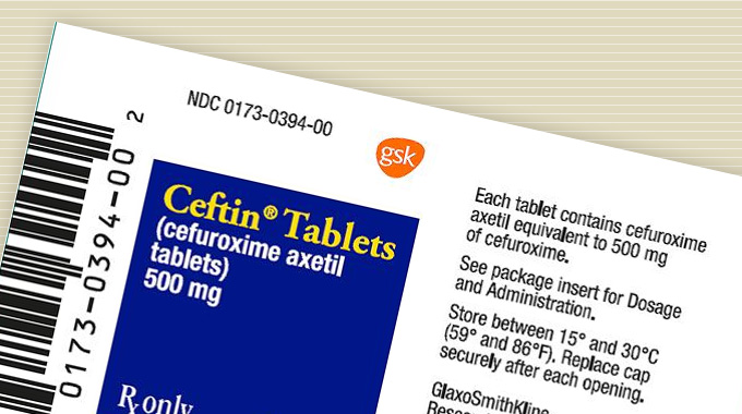 Ceftin (cefuroxime) tablets